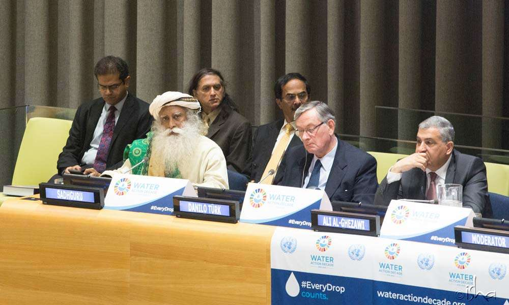 The UN initiative focuses on cooperation and partnership in the integrated management of water resources.