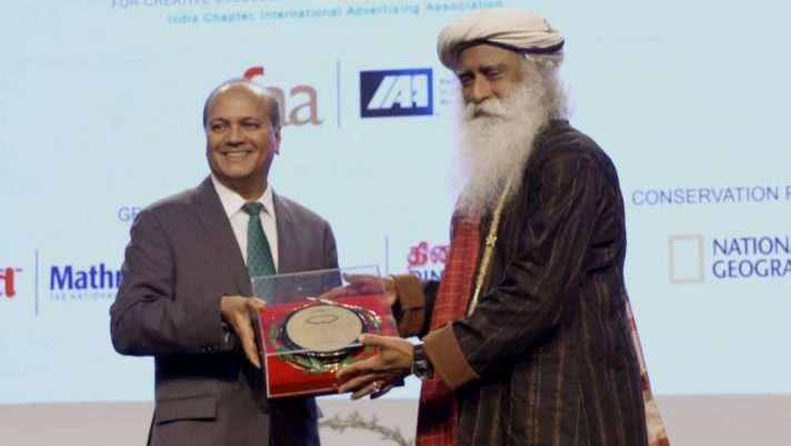 Isha Foundation Receives Olive Crown Green Crusader Award for Rally For Rivers