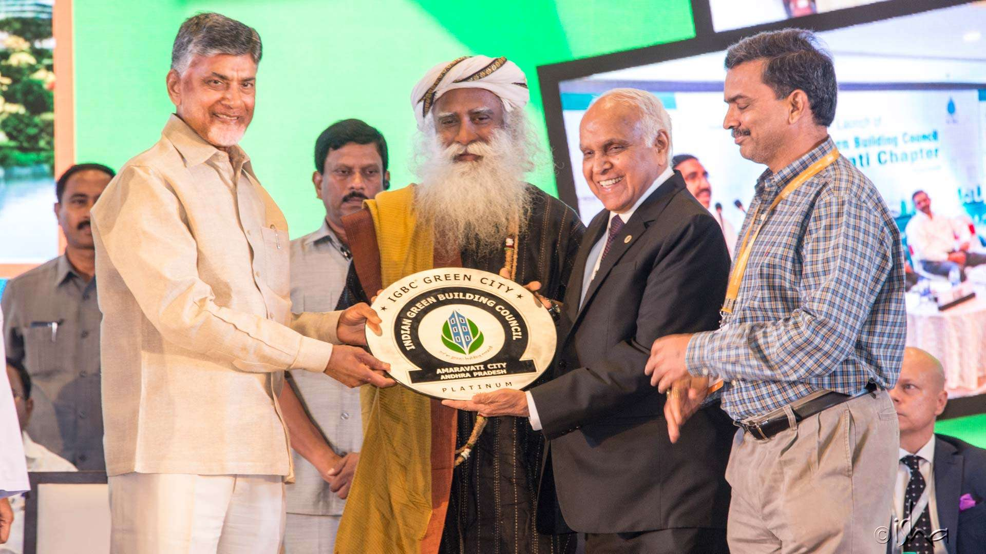 The new AP capital city Amaravati won the platinum award by the Indian Green Building Council