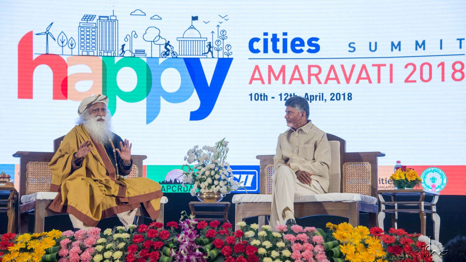 CM Chandrababu Naidu in conversation with Sadhguru on what makes a happy city