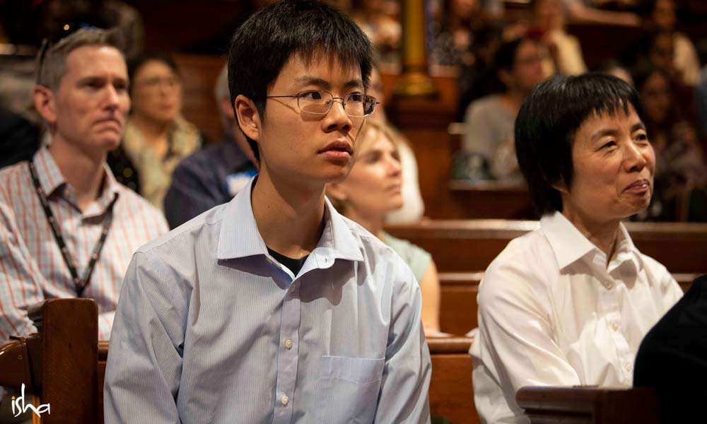 The audience reflected the rich diversity of the scientific community at Harvard